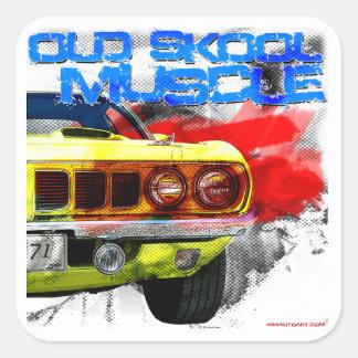 """1971年のプリマスCuda """"古いSkoolの筋肉"""" スクエアシール"""