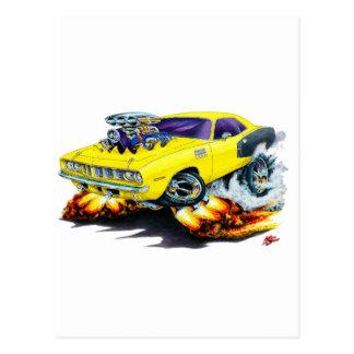 1971年のHemi Cudaの黄色い車 ポストカード