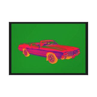 1971年のOldsmobileのカットラス最高筋肉車のポップアート キャンバスプリント