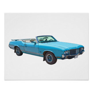 1971年のOldsmobileのカットラス最高筋肉車 ポスター