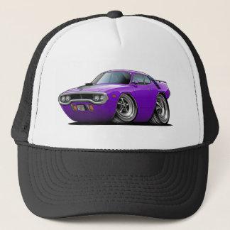 1971-72年のロードランナーの紫色黒い車 キャップ