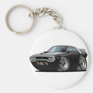 1971-72年のロードランナーの黒い車 キーホルダー