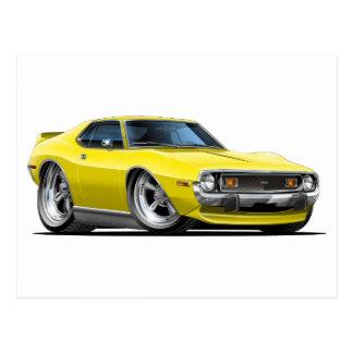 1971-72年の投げ槍の黄色い車 ポストカード