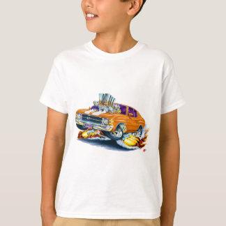 1971-72年のChevelleのオレンジ白の車 Tシャツ