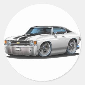 1971-72年のChevelleの白黒い上車 ラウンドシール