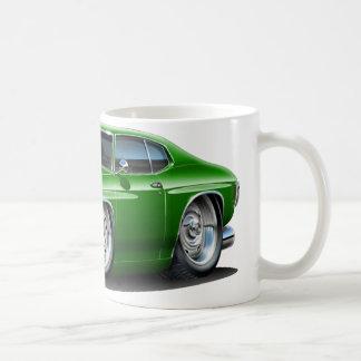 1971-72年のChevelleの緑車 コーヒーマグカップ