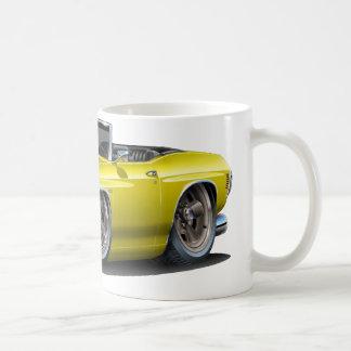 1971-72年のChevelleの黄色黒いコンバーチブル コーヒーマグカップ