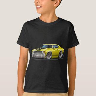 1971-72年のChevelleの黄色黒い車 Tシャツ