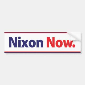 1972年のニクソンは今バンパーステッカー運動をします バンパーステッカー