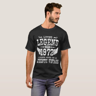 1972年の伝説以来の生きている伝説は決して死にません Tシャツ