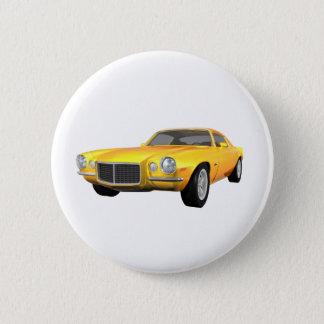 1972年のCamaro Z28: 筋肉車: 黄色い終わり: 5.7cm 丸型バッジ