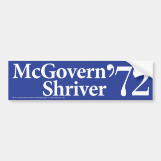 1972年のMcGovern Shriverのヴィンテージのバンパーステッカー バンパーステッカー