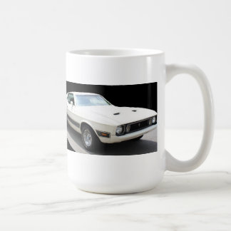1973年のムスタングのマッハI (車は白いw/Blackは縞で飾りますです) コーヒーマグカップ