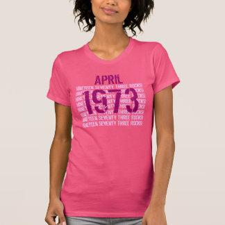 1973年または年の第50誕生日プレゼントのピンク Tシャツ