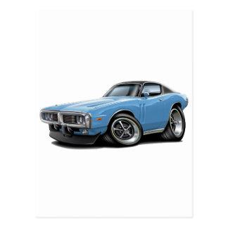 1973-74年の充電器のLt青黒Top Car ポストカード