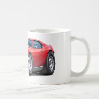 1973-74年の投げ槍の赤白の車 コーヒーマグカップ