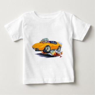 1973-76年のコルベットのオレンジ車 ベビーTシャツ