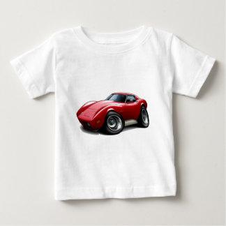 1973-76年のコルベットの赤車 ベビーTシャツ