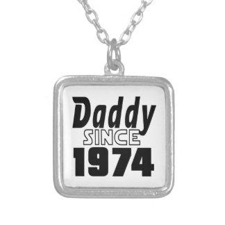 1974年以来のお父さん シルバープレートネックレス