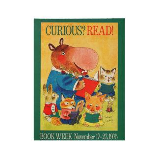 1975人の児童読書週間木ポスター ウッドポスター