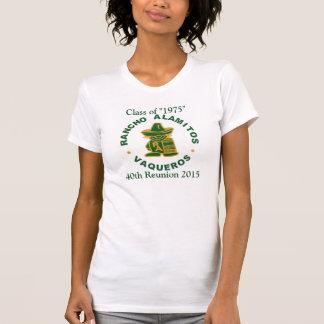 1975人の女性V首のランチョAlamitosのクラス Tシャツ