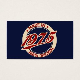 1975年に作られる 名刺