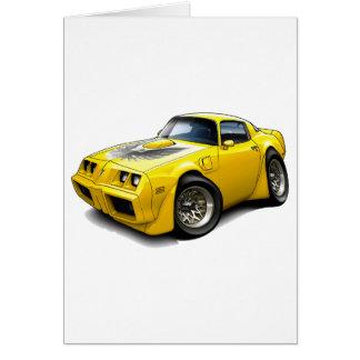 1979-81年のTRANS AMの黄色い車 カード