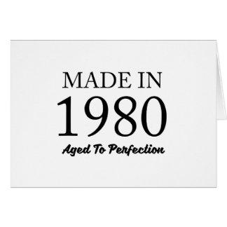 1980年に作られる カード