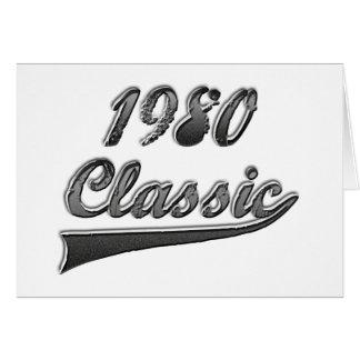 1980年のクラシック カード