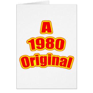 1980年の元の赤 カード