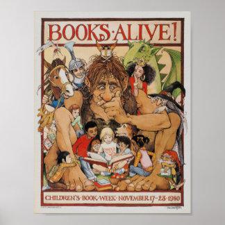 1980年の児童読書週間ポスター ポスター
