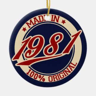 1981年に作られる セラミックオーナメント