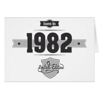 1982年に生まれて下さい(Dark&Lightgrey) カード