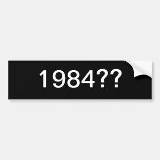 1984バンパーステッカー バンパーステッカー