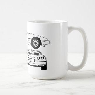 1984年のシボレー・コルベットの設計図のマグ コーヒーマグカップ