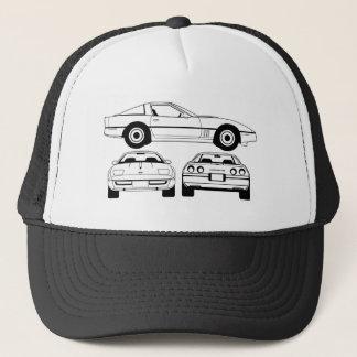 1984年のシボレー・コルベットの設計図の帽子 キャップ