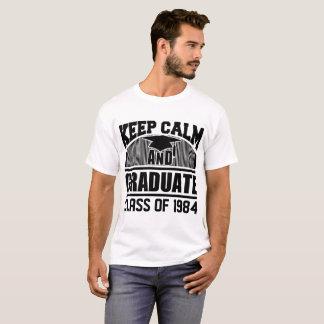 1984年の穏やかな、大学院のクラスを保って下さい Tシャツ