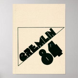 1984年のGraydon Gremlinの年鑑ポスター ポスター