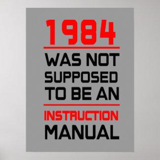 1984年は使用説明書であるために仮定されませんでした ポスター