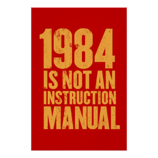 1984年は使用説明書ではないです ポスター