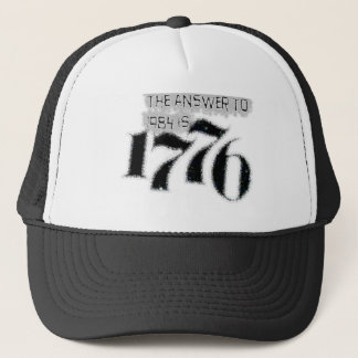 1984年への答えは1776年です キャップ