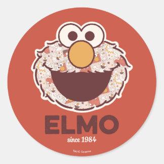 1984年以来のセサミストリート| Elmo ラウンドシール