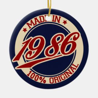 1986年に作られる セラミックオーナメント