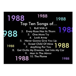 1988の歌 ポストカード