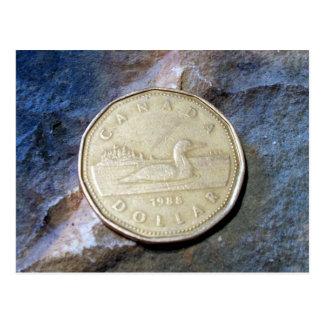 1988人のカナダ人のLoonieの郵便はがき ポストカード