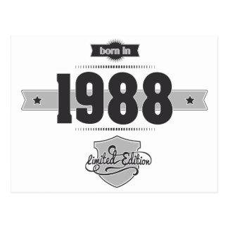 1988年に生まれて下さい(Dark&Lightgrey) ポストカード