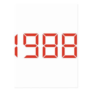 - 1988年-生年誕生日 ポストカード