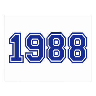 1988誕生日 ポストカード