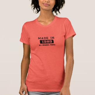 1989年に作られる-すべてのオリジナルの部品 Tシャツ