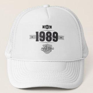 1989年に生まれて下さい(Dark&Lightgrey) キャップ